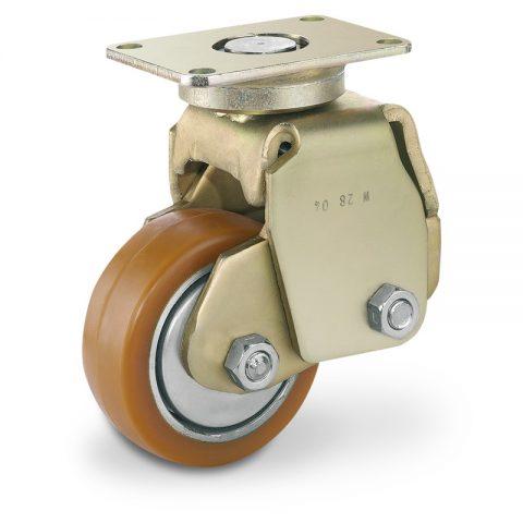 Σταθεροποιητικός τροχός για ηλεκτροκίνητο παλετοφόρο 100mmΧ40mm, από πολυουρεθάνη με διπλά σφαιρικά ρουλεμάν για μηχανήματα Linde