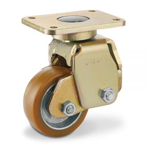 Σταθεροποιητικός τροχός για ηλεκτροκίνητο παλετοφόρο 100mmΧ40mm, από πολυουρεθάνη με διπλά σφαιρικά ρουλεμάν για μηχανήματα Genkinger