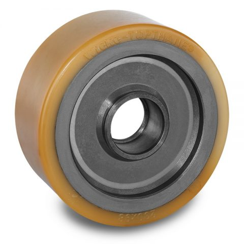 Load wheel for electric pallet truck 230mm from polyurethane for machines Linde,Still-Wagner