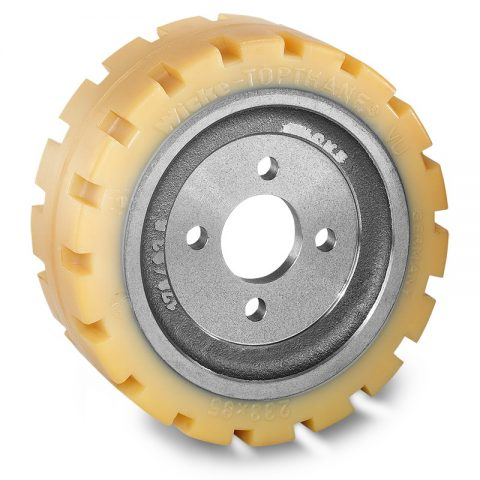 Drive wheel for electric pallet truck 233mm from polyurethane Flange application with 4 holes for machines Rocla/MCFE,Jungheinrich,MIC