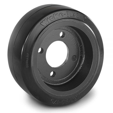 Drive wheel for electric pallet truck 230mm from Elastic Rubber Flange application with 4 holes for machines Linde