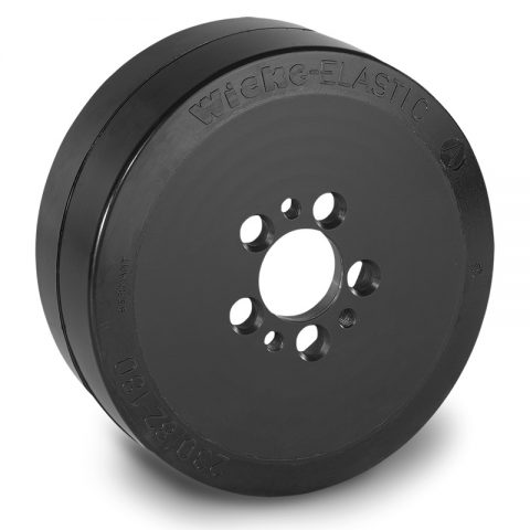 Drive wheel for electric pallet truck 230mm from Elastic Rubber Flange application with 5 holes for machines Jungheinrich
