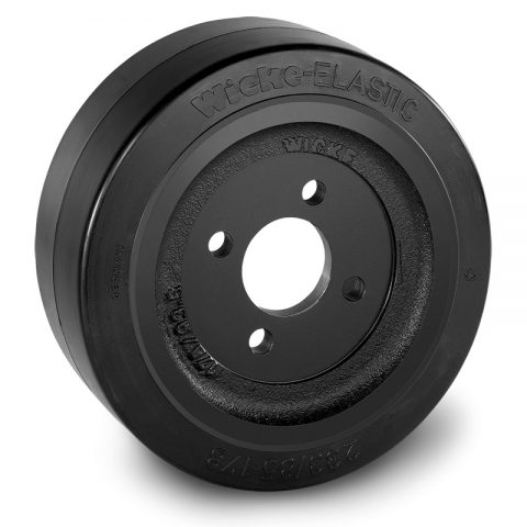 Drive wheel for electric pallet truck 233mm from Elastic Rubber Flange application with 4 holes for machines Rocla/MCFE,Jungheinrich,MIC