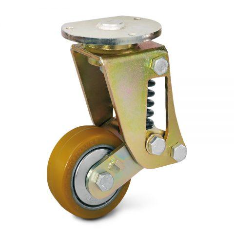 Σταθεροποιητικός τροχός για ηλεκτροκίνητο παλετοφόρο 100mmΧ40mm, από πολυουρεθάνη με διπλά σφαιρικά ρουλεμάν για μηχανήματα Jungheinrich