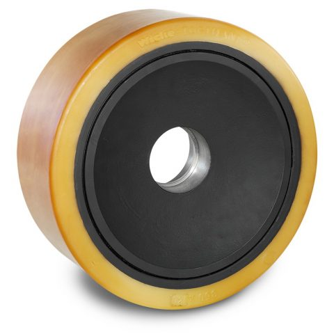 Load wheel for electric pallet truck 350mm from polyurethane for machines Hyster/Yale