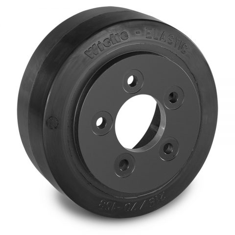 Drive wheel for electric pallet truck 215mm from Elastic Rubber Flange application with 5 holes for machines BT