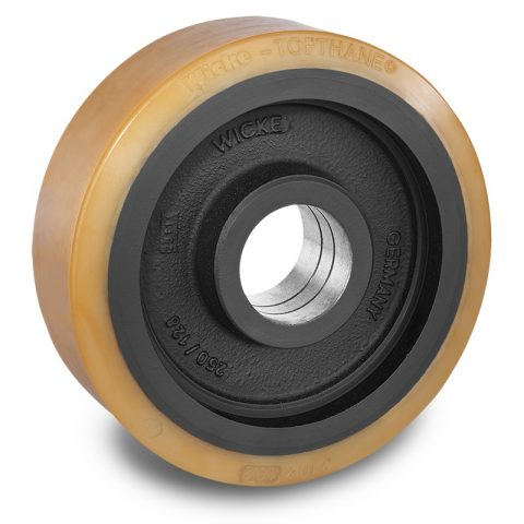 Load wheel for electric pallet truck 300mm from polyurethane for machines Still-Wagner
