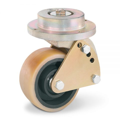 Stabilization castor for electric pallet truck 140mmX60mm from polyurethane with ball bearings for machines Linde
