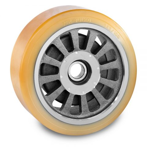 Load wheel for electric pallet truck 343mm from polyurethane for machines Jungheinrich