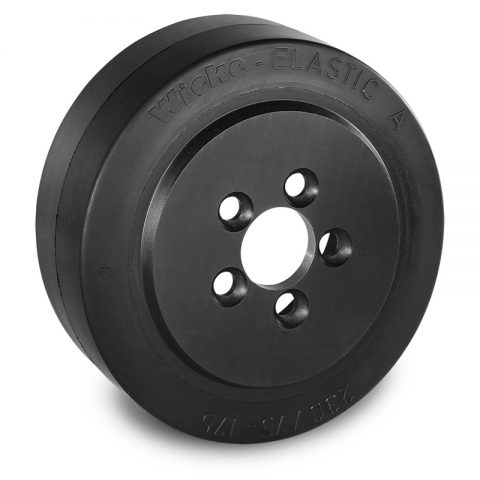 Drive wheel for electric pallet truck 230mm from Elastic Rubber Flange application with 5 holes for machines Still-Wagner