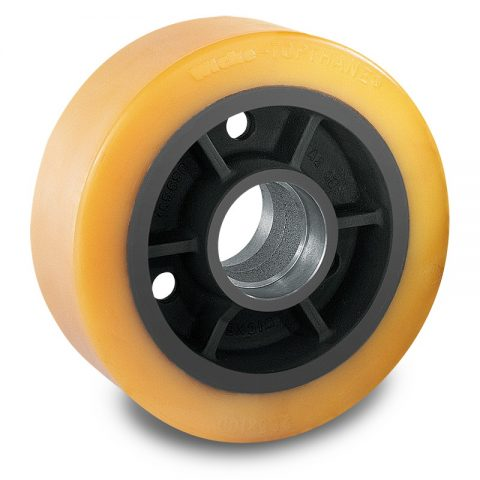 Load wheel for electric pallet truck 285mm from polyurethane for machines Hyster/Yale