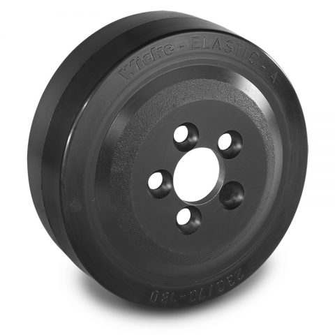 Drive wheel for electric pallet truck 230mm from Elastic Rubber Flange application with 5 holes for machines Lafis
