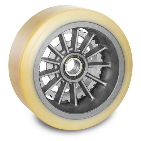 Load wheel for electric pallet truck 285mm from polyurethane for machines Jungheinrich