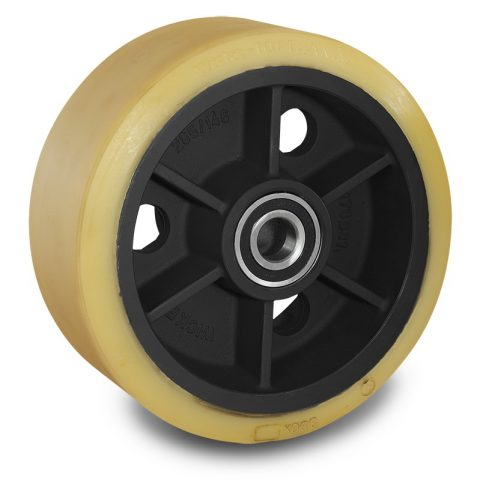 Load wheel for electric pallet truck 343mm from polyurethane for machines Linde,Magaziner