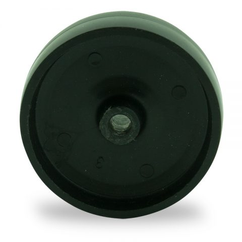 Wheel 100mm for light trolleys made from polypropylene,plain bearing.