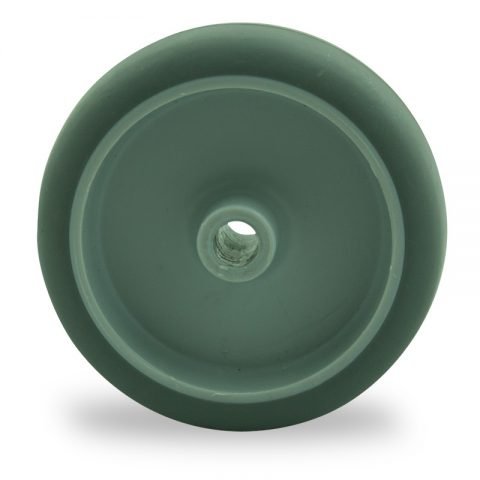 Wheel 75mm for light trolleys made from grey rubber,plain bearing.
