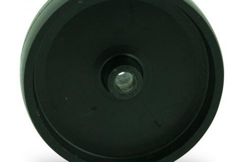 Wheel 75mm for light trolleys made from polypropylene,plain bearing.