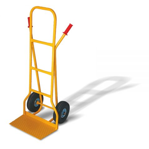 Hand truck with two wheels from pneumatic rubber 260mm docking platform 290x500mm
