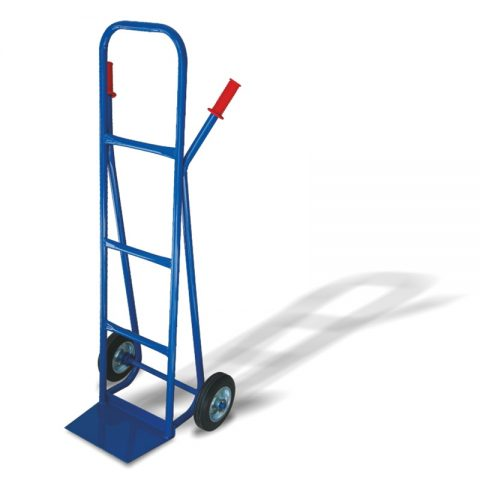 Hand truck with two wheels from black rubber 200mm docking platform 210x330mm