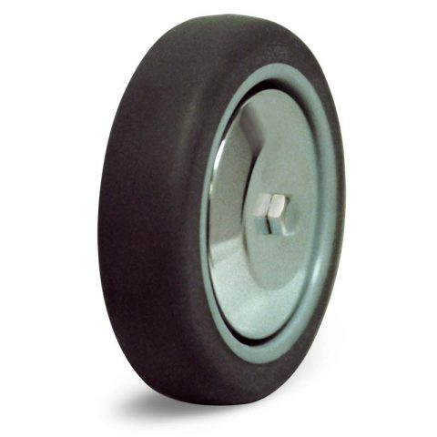 Wheel 100mm from polyurethane with double ball bearings