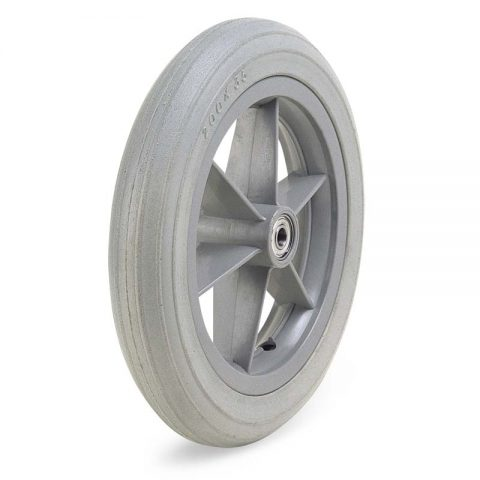 Wheel for wheelchair 200mm with polyurethane and ball bearings