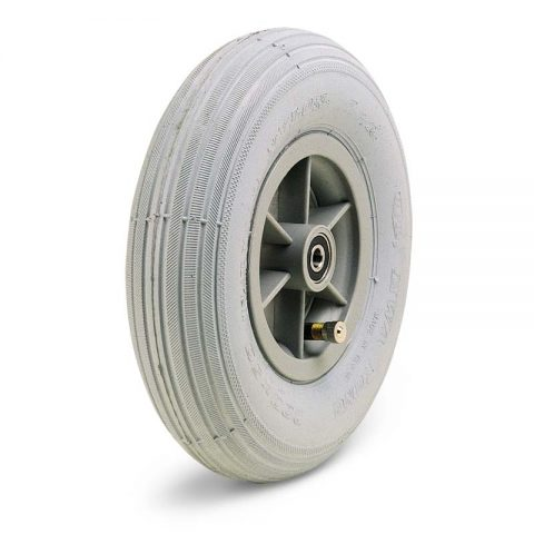 Wheel for wheelchair 200mm with grey rubber and ball bearings