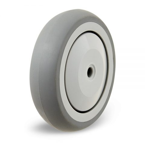 Wheel 125mm from grey rubber plain bearing