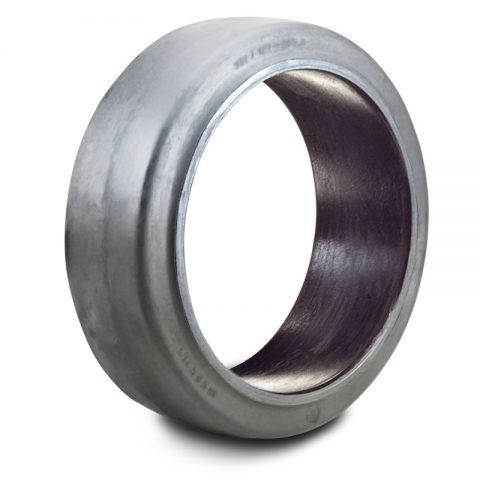 Δακτύλιος προσαρμογής για ηλεκτροκίνητο παλετοφόρο 250mmΧ50mm, από μαύρο λάστιχο