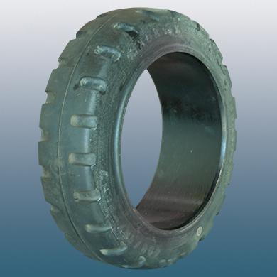 Δακτύλιος προσαρμογής για ηλεκτροκίνητο παλετοφόρο 660mmΧ203mm, από μαύρο λάστιχο