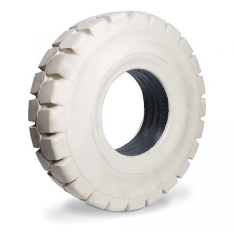 Solid tire for electric pallet truck, dimension 12.00-24 rim width 8.50 non marking