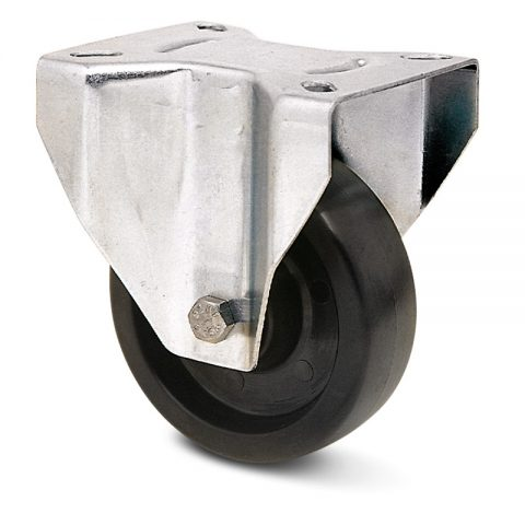 hi-temperature wheelsfixed castor for trolleys.Thermoset resin with  and Plain bearing.Top plate fitting