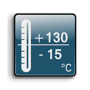 Working temperature from -15C up to +130C