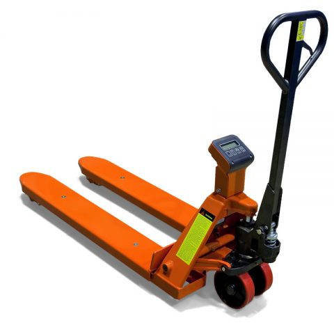 Pallet truck with ewighting scale which can weight the carried load