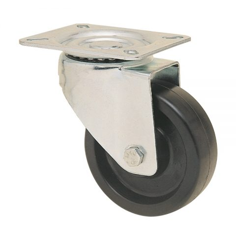 hi-temperature wheelsswivel castor for trolleys.Thermoset resin with  and Plain bearing.Top plate fitting