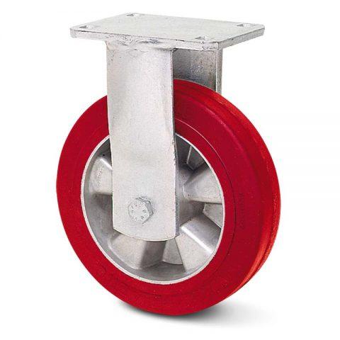 Σταθερή ρόδα βαρέως τύπου 160mm από πολυουρεθάνη με ζάντα αλουμινένια με σφαιρικά ρουλεμάν.Προσαρμογή με πλάκα.