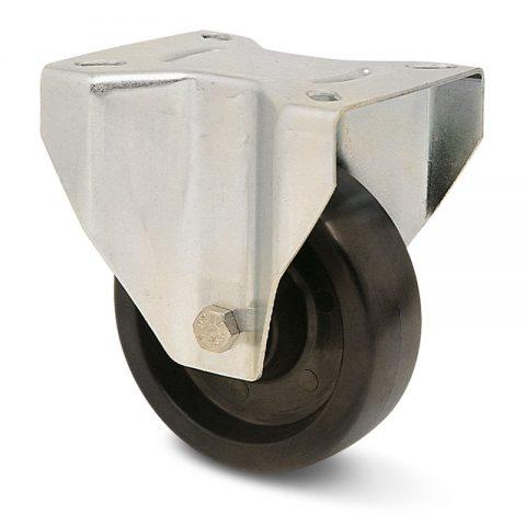 Σταθερή ρόδα για φούρνους 100mm από τροχό υψηλών θερμοκρασιών με σφαιρικά ρουλεμάν.Προσαρμογή με πλάκα.