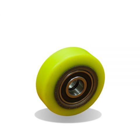 Wheels for elevators 80mm. Polyurethane thread with cast iron rim and Double ball bearings