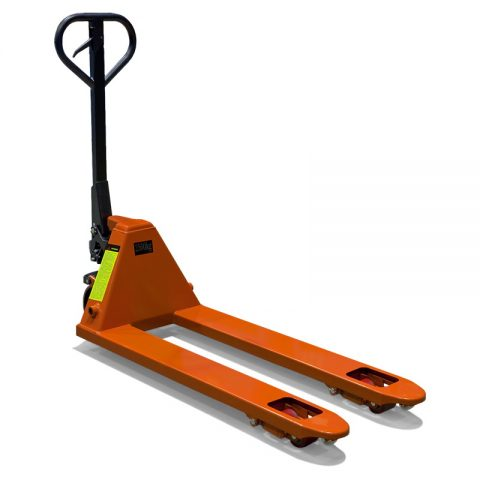 Hand pallet truck low profile for application for low height pallets
